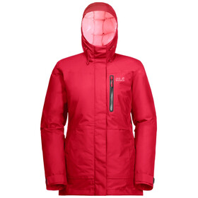Jack Wolfskin North Tech Parka Dames, clear red